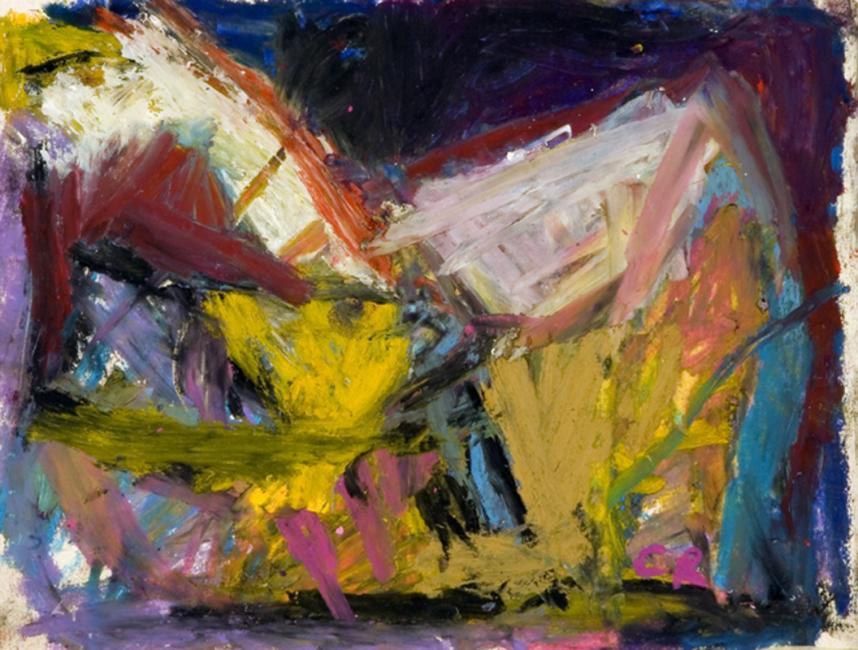 Laredo, pastelà l'huile sur papier, 21,5 x 27 cm 2009