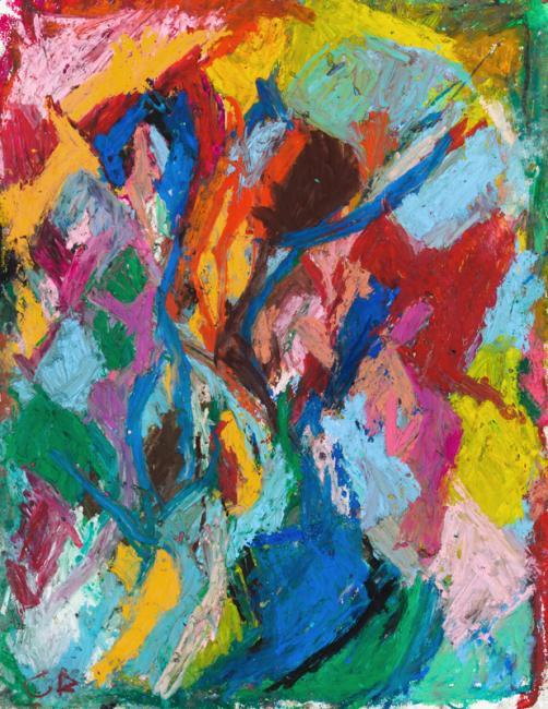 Intérieur, pastel à l'huile 65 x 50 cm 2011