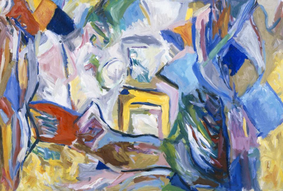 Intérieur, huile sur carton 80 x 120 cm 1994