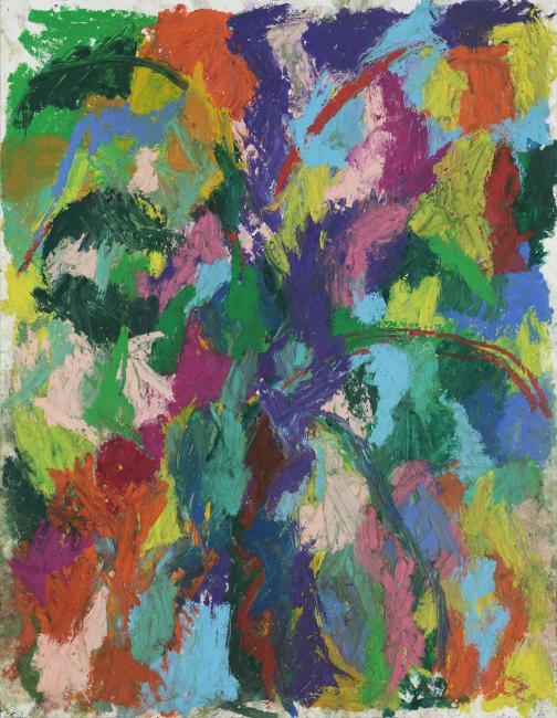 Sans titre pastel à l'huile sur papier, 65 x 55 cm 2016