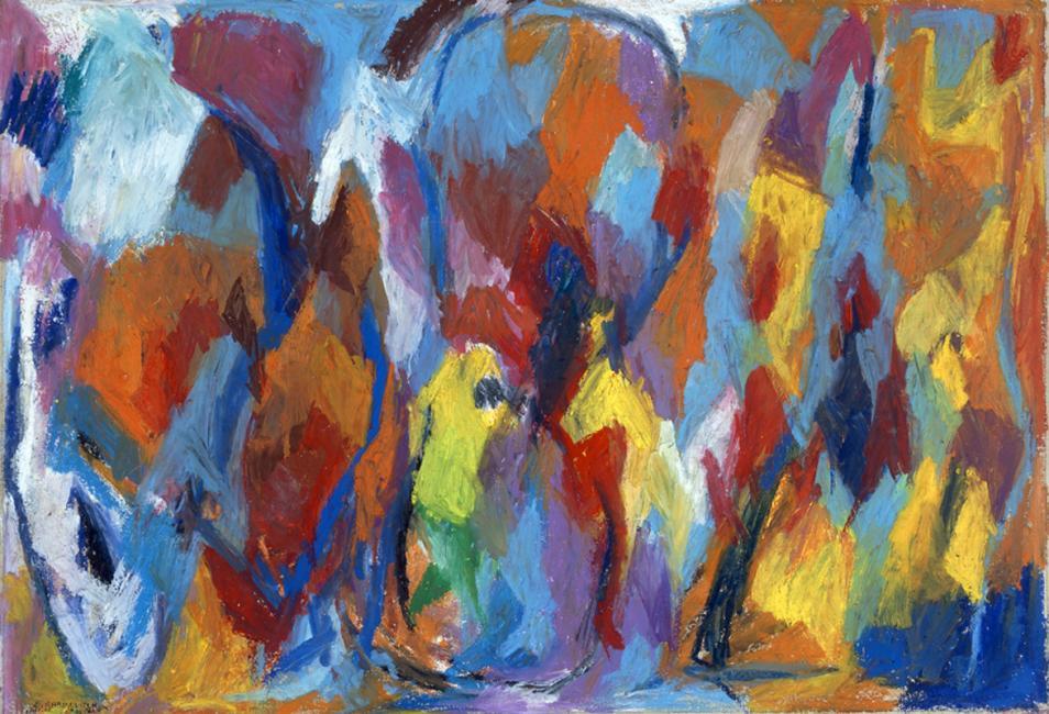 """Le mot """"OUBLI"""", pastel à l'huile sur papier, 60 x 87 cm 2002"""