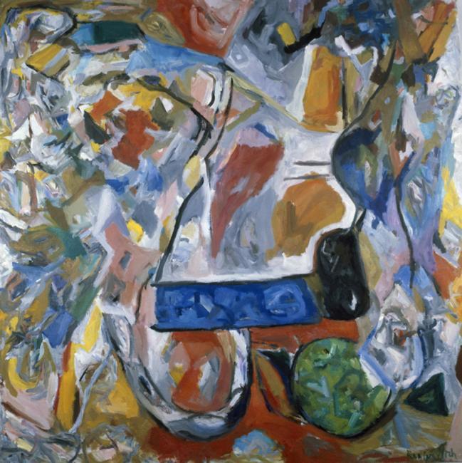 Intérieur, huile sur toile 150 x 150 cm 1994