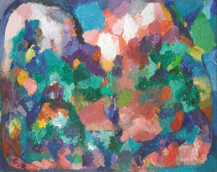 Data art, huile sur toile,  73 x 92 cm 2003 - 2005