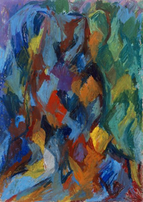 Motif, pastel à l'huile sur papier, 76 x 52 cm 2002