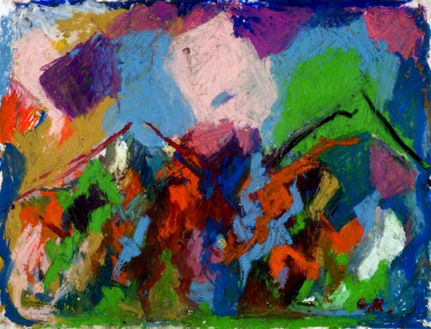 Laredo, pastel à l'huile sur papier, 50 x 65 cm 2009