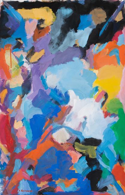 Paysage gouache sur papier, 102 x 65 cm 2013