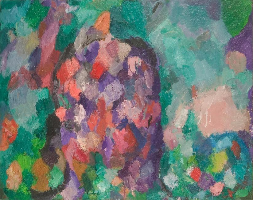 Tête, huile sur toile, 73 x 92 cm 2003 - 2005