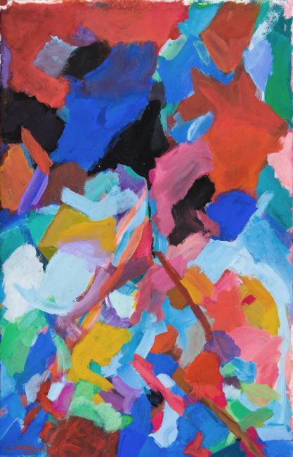 Laredo, gouache sur papier, 102 x 65 cm 2010
