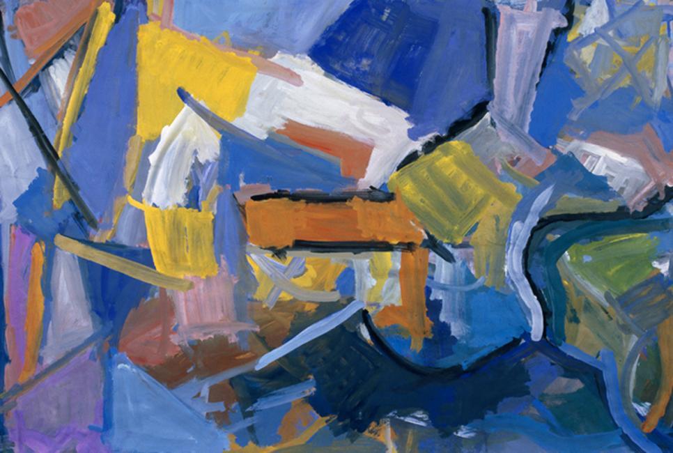 Intérieur, gouache sur papier 75 x 108 cm 1991