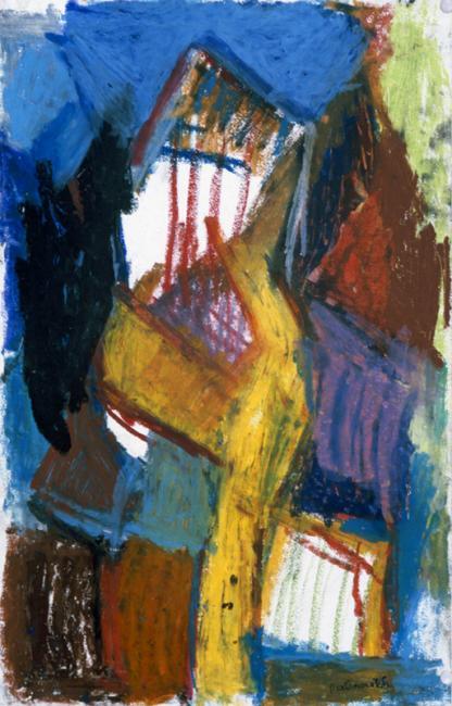 Personnage, pastel à l'huile sur papier, 50 x 30 cm 1997