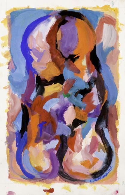 Phallus, gouache sur papier, 57 x 38 cm 2007