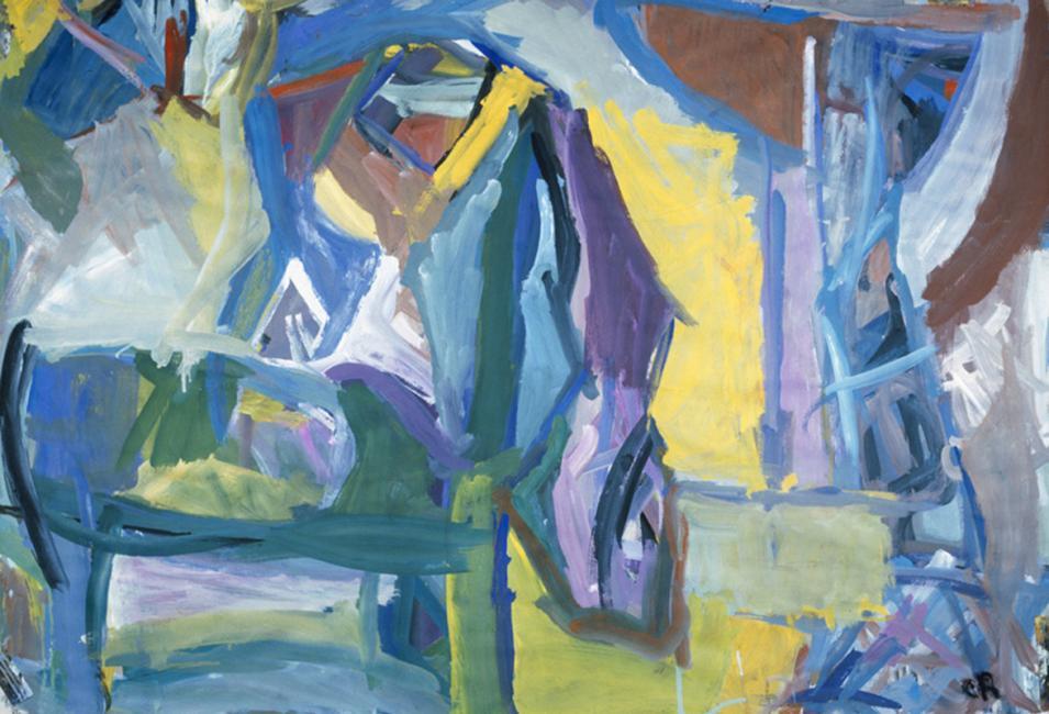 Chaise, gouache sur papier 75 x 108 cm 1991