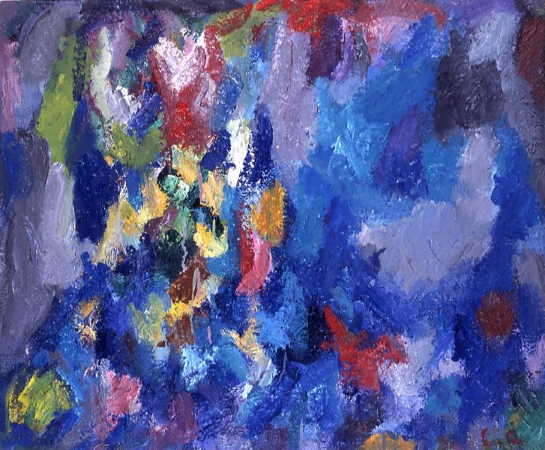Motif, huile sur toile, 60 x 73 cm 2003 - 2004