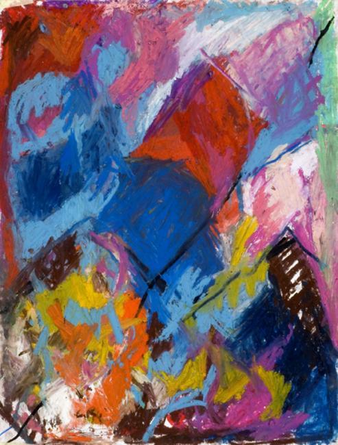 Laredo, pastel à l'huile sur papier, 65 x 50 cm 2009