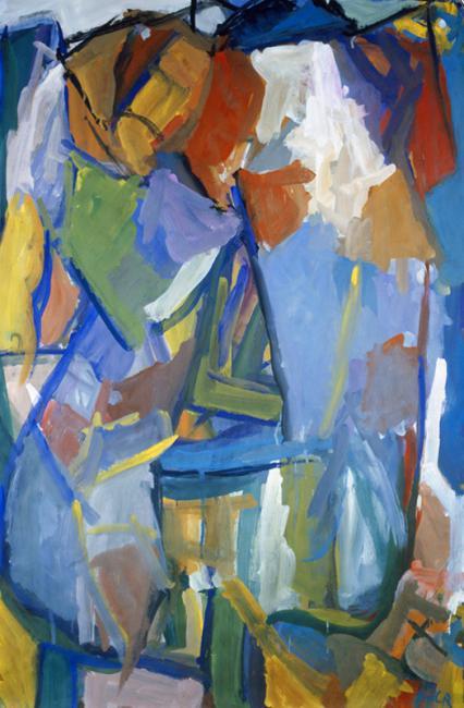 Chaise, gouache sur papier 108 x 75 cm 1991