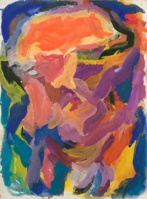 Tête, gouache sur papier, 56 x 46 cm, 2005