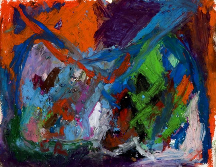 Laredo, pastel à l'huile sur papier, 21,5 x 27 cm 2009