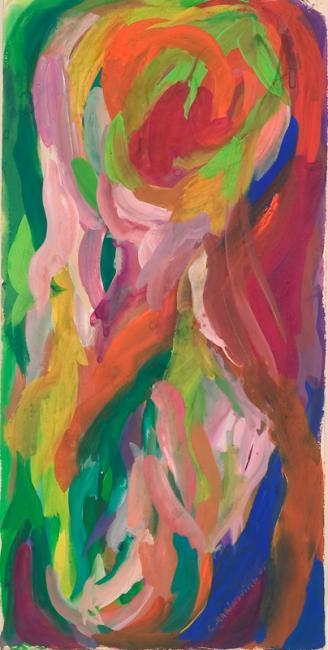 """Le """"I"""" du mot oubli, gouache sur papier, 53 x 26 cm 2006"""