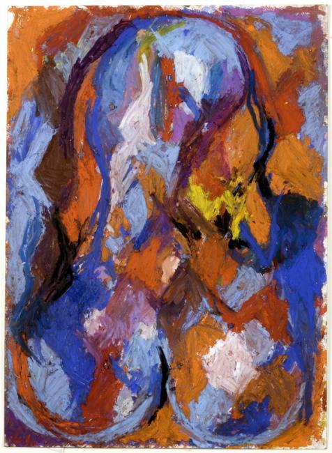 Phallus, pastel à l'huile sur papier, 57 x 46 cm 2007