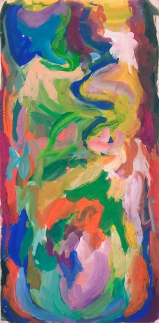 """Le """"U"""" du mot oubli, gouache sur papier, 53 x 26 cm 2006"""