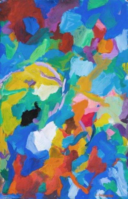 Laredo, gouache sur papier, 102 x 65 cm 2009
