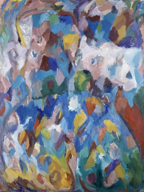 Motif, huile sur toile, 130 x 97 cm 2000 - 2002