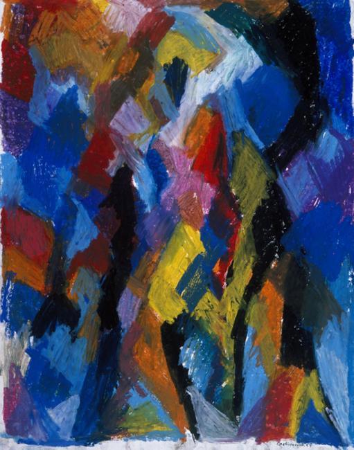 Personnage, pastel à l'huile sur papier, 65 x 50 cm 1997