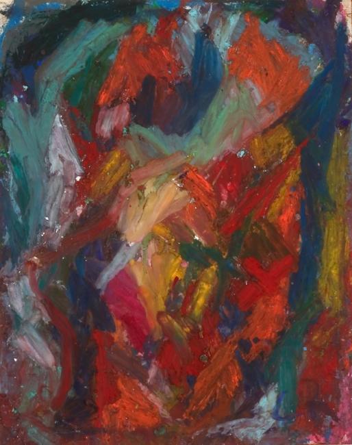 Tête, pastel à l'huile sur papier, 27 x 21 cm 2005
