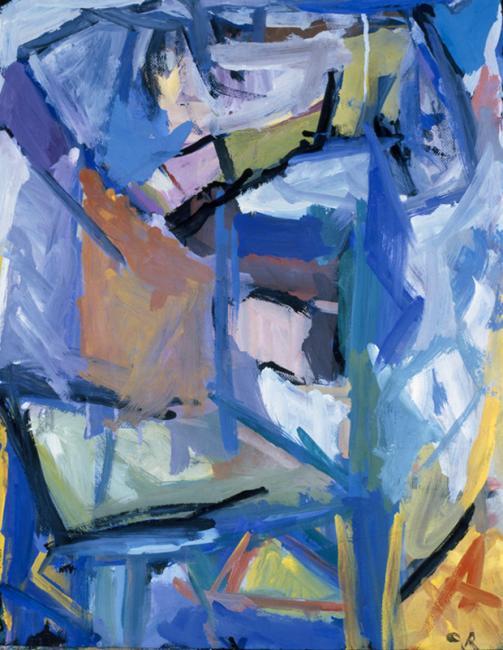Chaise, gouache sur papier 65 x 50 cm 1991