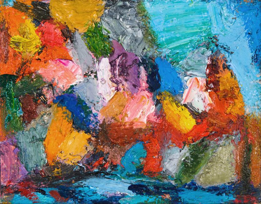 Laredo, l'huile sur toile, 14 x 18 cm 2009