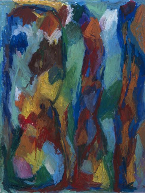 """Le """"BLI"""" du mot oubli, pastel à l'huile sur papier, 65 x 50 cm 2002"""
