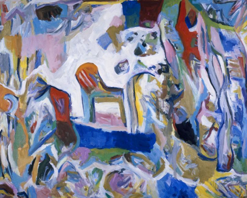 Intérieur, huile sur toile 97 x 130 cm 1993