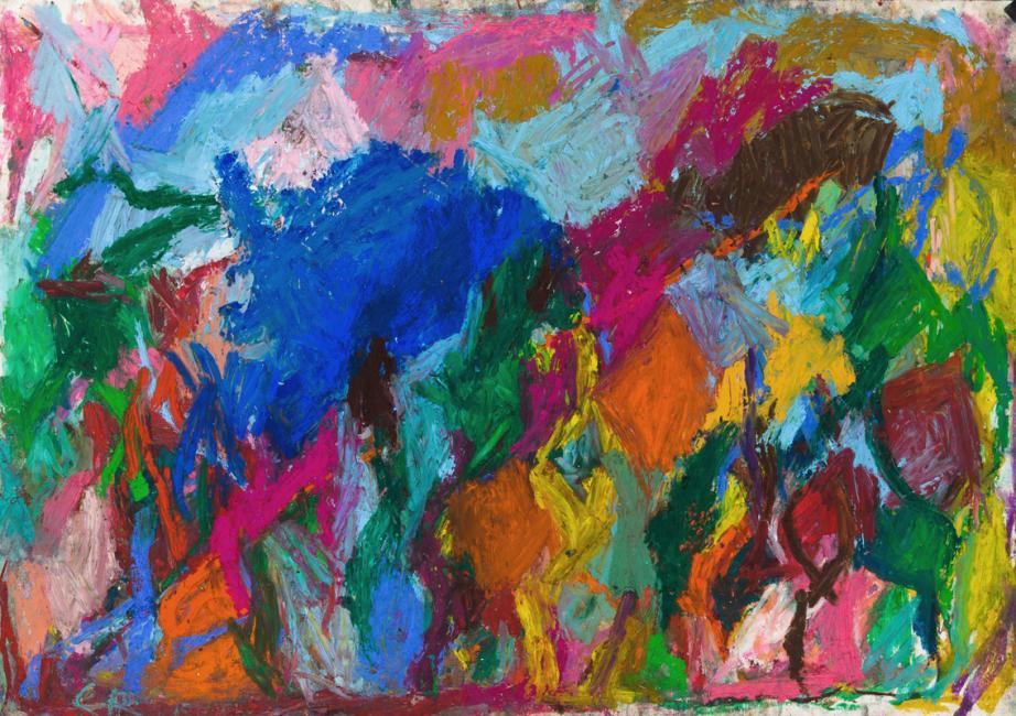 Laredo, pastel à l'huile sur papier, 52 x 75 cm 2010