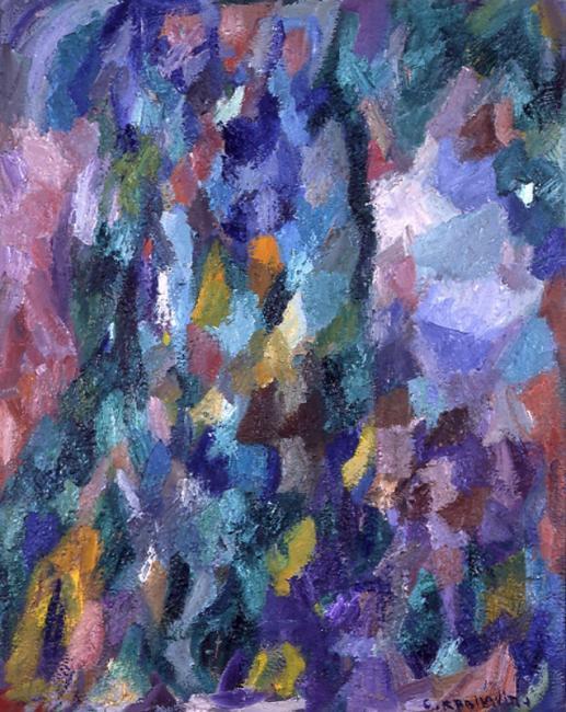 Motif, huile sur toile, 92 x 73  cm 2003 - 2005