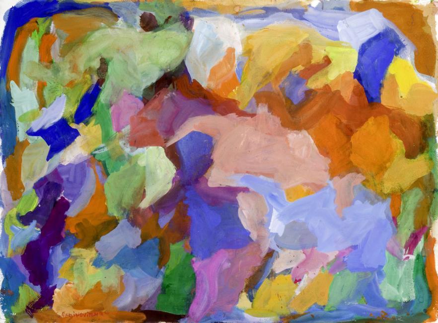 Laredo, gouache sur papier, 56 x 75 cm 2009