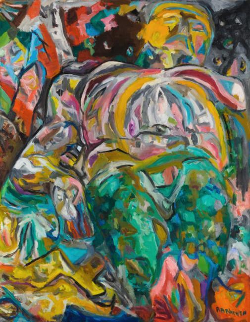 Interprétation n°3, huile sur toile 146 x 114 cm 1995